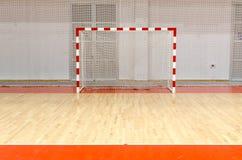 Futsal Ziel des Fußballhandballs stockfoto