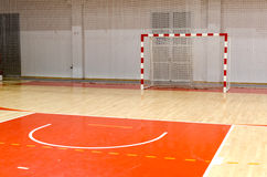 Futsal Ziel des Fußballhandballs lizenzfreies stockfoto