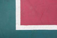Futsals-Gerichts-Innensportstadion mit Kennzeichen Lizenzfreie Stockbilder