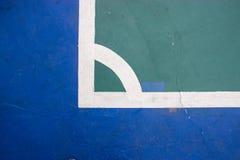 Futsals-Gerichts-Innensportstadion mit Kennzeichen Stockfoto