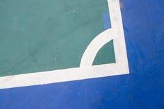 Futsals-Gerichts-Innensportstadion mit Kennzeichen Stockbild