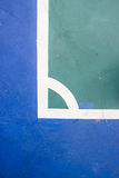Futsals-Gerichts-Innensportstadion mit Kennzeichen Lizenzfreie Stockfotos