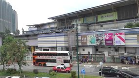 Futung plaza Outlet shopping mall in Lantau island near the airport stock video