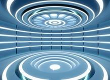Futur concept moderne d'intérieur de la science fiction de technologie de fond image stock