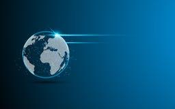 Futur fond de concept d'innovation de technologie numérique de vision de mise en réseau abstraite de globe Photo libre de droits