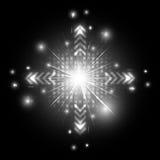 Futur fond noir et blanc abstrait de concept de technologie Image libre de droits