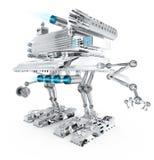 futur guerrier de robot en métal illustration de vecteur
