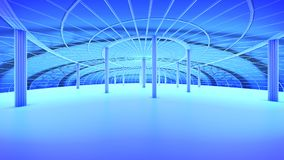 Futur horizon de ville de concept Concept futuriste de vision d'affaires illustration 3D Image libre de droits