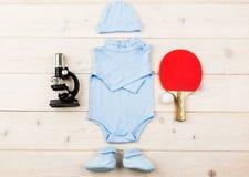 Futur joueur ou scientifique de tennis Image libre de droits