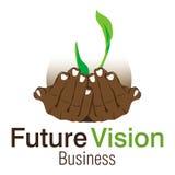 Futur logo de Busines de visibilité Photos stock