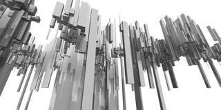 futur papier peint abstrait au loin illustration de vecteur