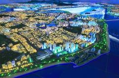 Futur paysage de l'oriental de la ville amoy, porcelaine Photographie stock libre de droits