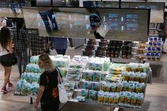 Futur secteur de nourriture dévoilant le supermarché de l'avenir Photographie stock libre de droits