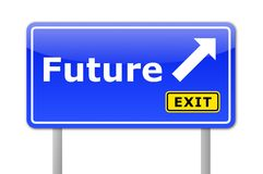 Future. Written on a road sign illustration showing time concept Royalty Free Stock Photography