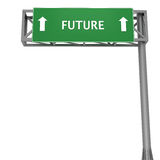 Future. Highway signboard pointing forward displaying FUTURE Stock Photos
