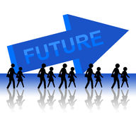 Future. Living and working towards a bright future Royalty Free Stock Photos