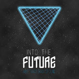 Into The Future Abstract 1980s Style Background.  Royalty Free Stock Photography