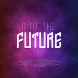 Into The Future Abstract 1980s Style Background. Stock Photo