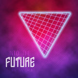 Into The Future Abstract 1980s Style Background Stock Images