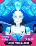 Future affiche de technologies illustration stock
