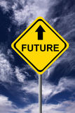 Future ahead. Going directly to the future with all its possibilities Stock Images