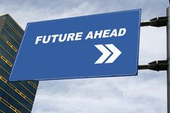 Future Ahead Signboard Concept Royalty Free Stock Image