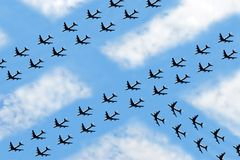 Future Air Traffic Royalty Free Stock Photos
