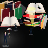 In future all books kept in clounds Royalty Free Stock Images