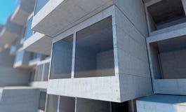 Future architecture Construction futuriste Construction moderne Futur concept Images libres de droits
