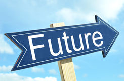 Future arrow. Against ble sky Royalty Free Stock Photography