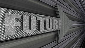 Future arrow sign background 3d render. 3d illustration Royalty Free Stock Photography