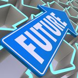 Future blue arrow Stock Images