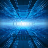 Future and blue lines background Stock Photography