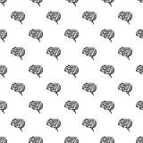 Future brain pattern seamless royalty free illustration