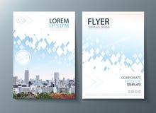 Future brochure lumineuse de rapport annuel d'image, conception d'insecte, fond plat d'abrégé sur présentation de couverture de t illustration libre de droits