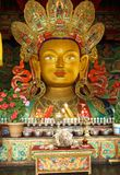 Future Buddha or Maitreya at Thiksey Monastery , India. Royalty Free Stock Photos