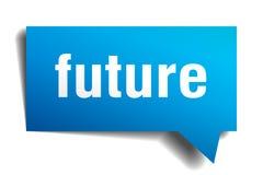 Future bulle de la parole du bleu 3d illustration de vecteur