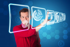 Future business interface solution Stock Image