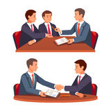 Future business partners signing contract Royalty Free Stock Photo