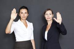 Future business solutions businesswomen Stock Image