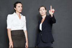 Future business solutions businesswomen Stock Images