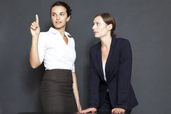 Future business solutions businesswomen Royalty Free Stock Photos