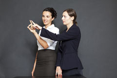 Future business solutions businesswomen Royalty Free Stock Image