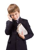 The future businessman, isolated over white Royalty Free Stock Image