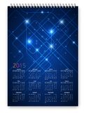 Future Calendar. Future Sci-Fi style calendar 2015 vector design template with standard a3-a4 proportions scalable for any printing size vector illustration