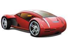 The future car. The fantastic car from the near future of a streamline Stock Photography