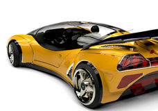 Future car yellow bsck side view 2 Royalty Free Stock Photo