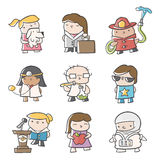 Future Careers. Illustrations of various careers Royalty Free Stock Photos