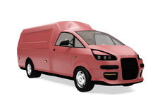 Future cargo van isolated view Royalty Free Stock Image