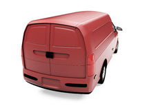 Future cargo van isolated view Stock Photos